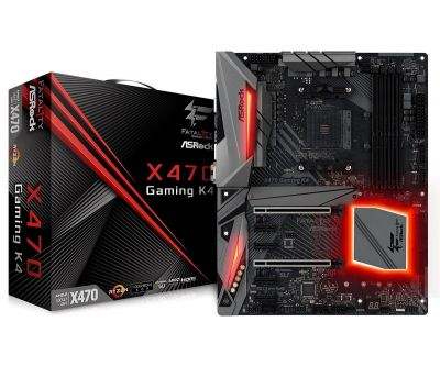 ASRock X470 Gaming K4, AM4, DDR4 3466+,2 PCIe 3.0 x16, 6 SATA3, 2 USB 3.1